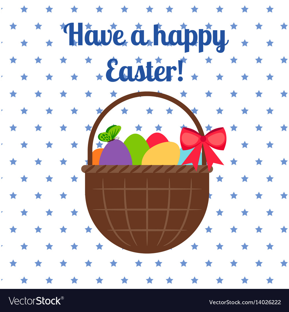 Happy easter white greeting card