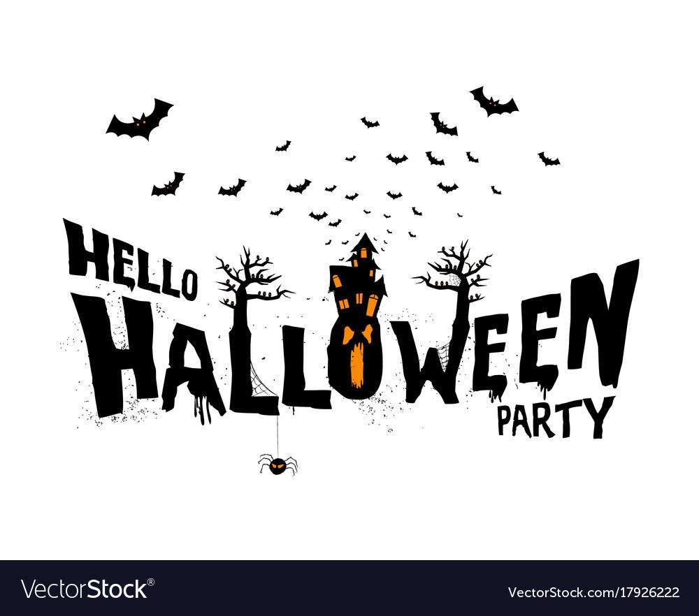 Happy halloween typography scary horror