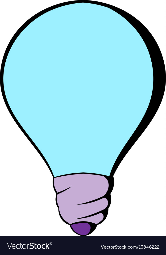 Light bulb icon cartoon