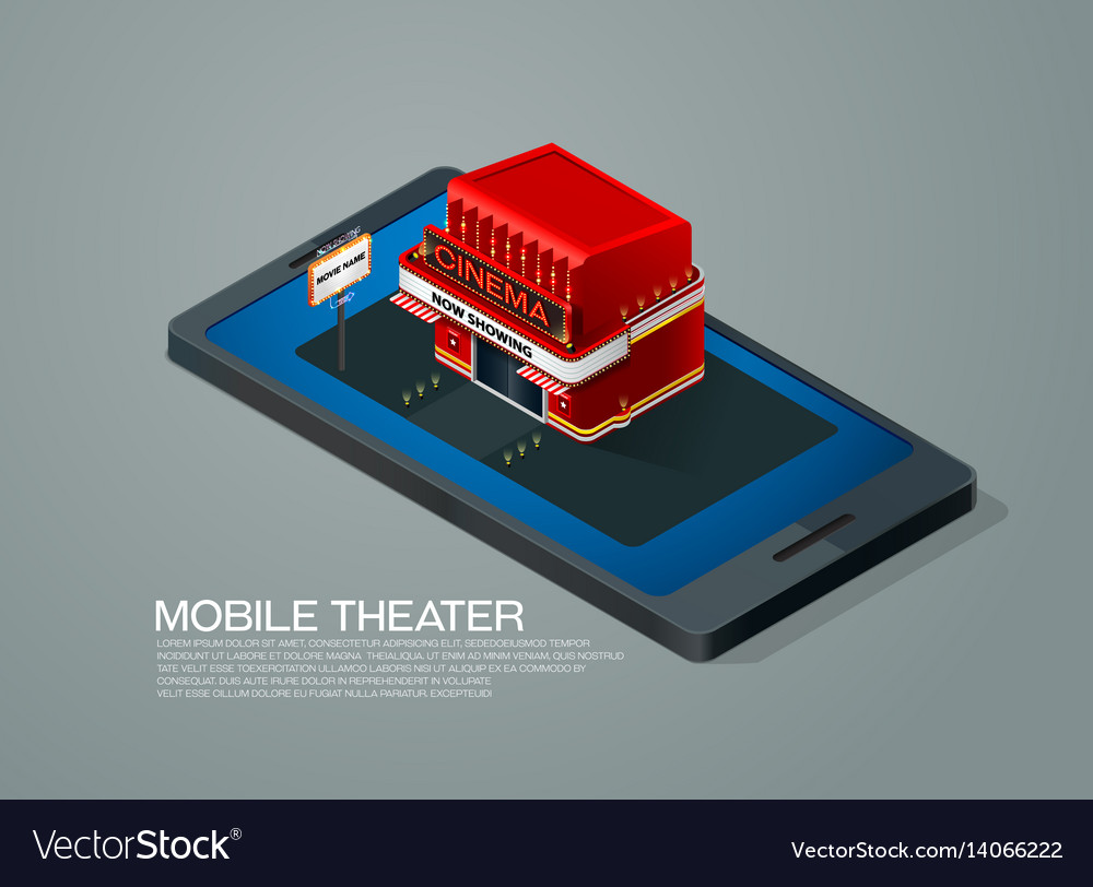 Mobile phone ticket reservation cinema theater