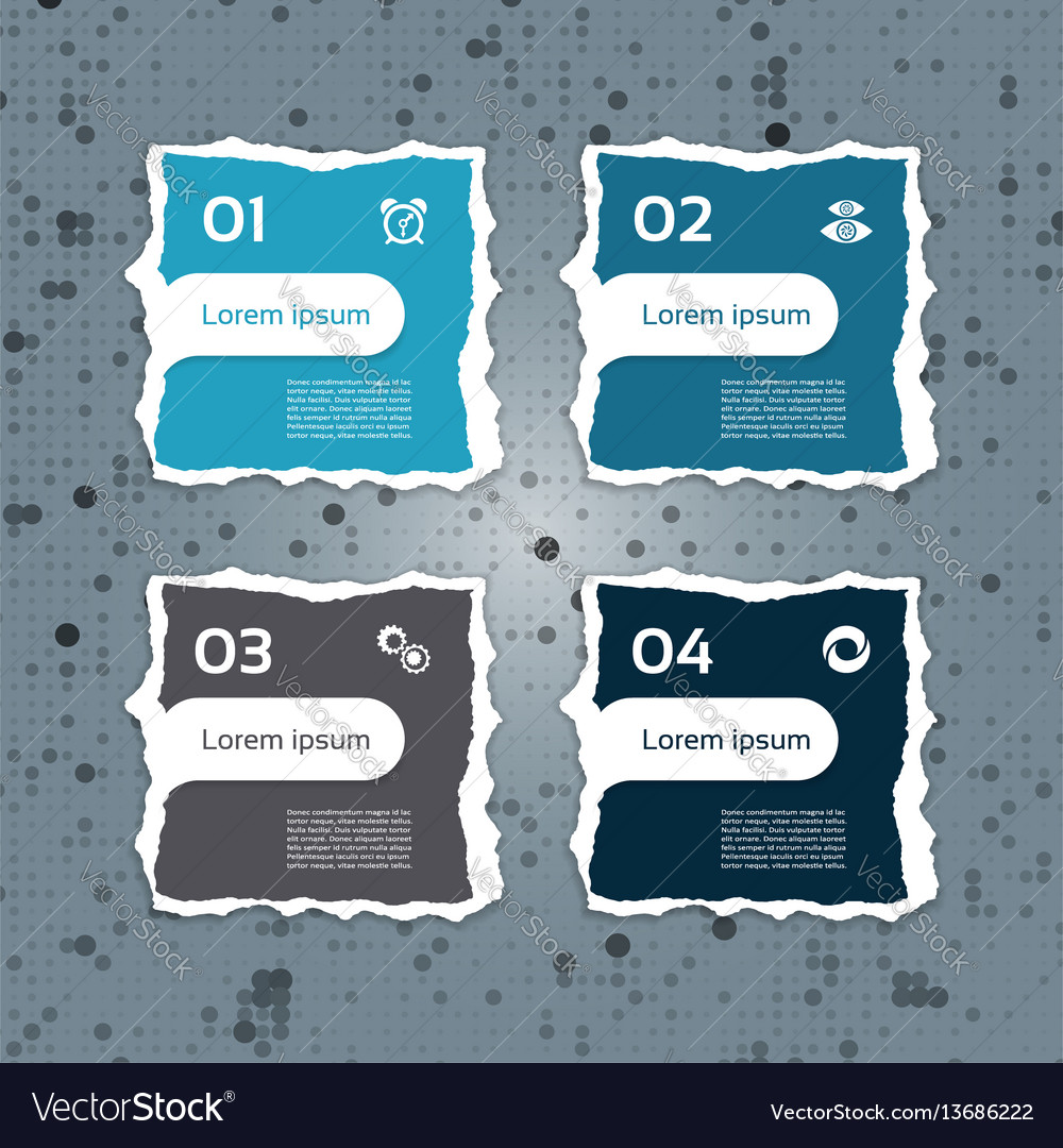 Modern torn paper for infographics