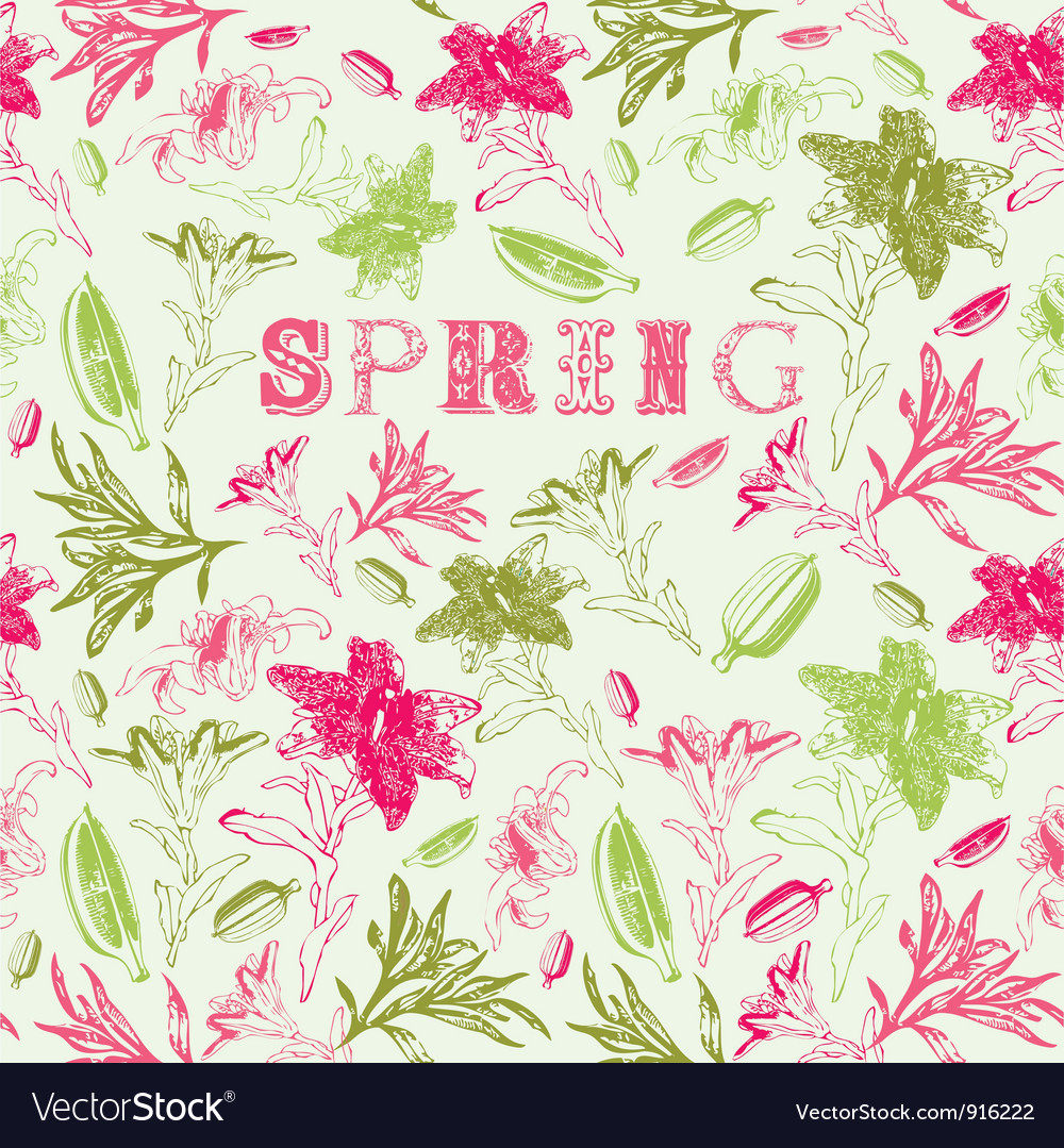 Spring Floral Background Royalty Free Vector Image