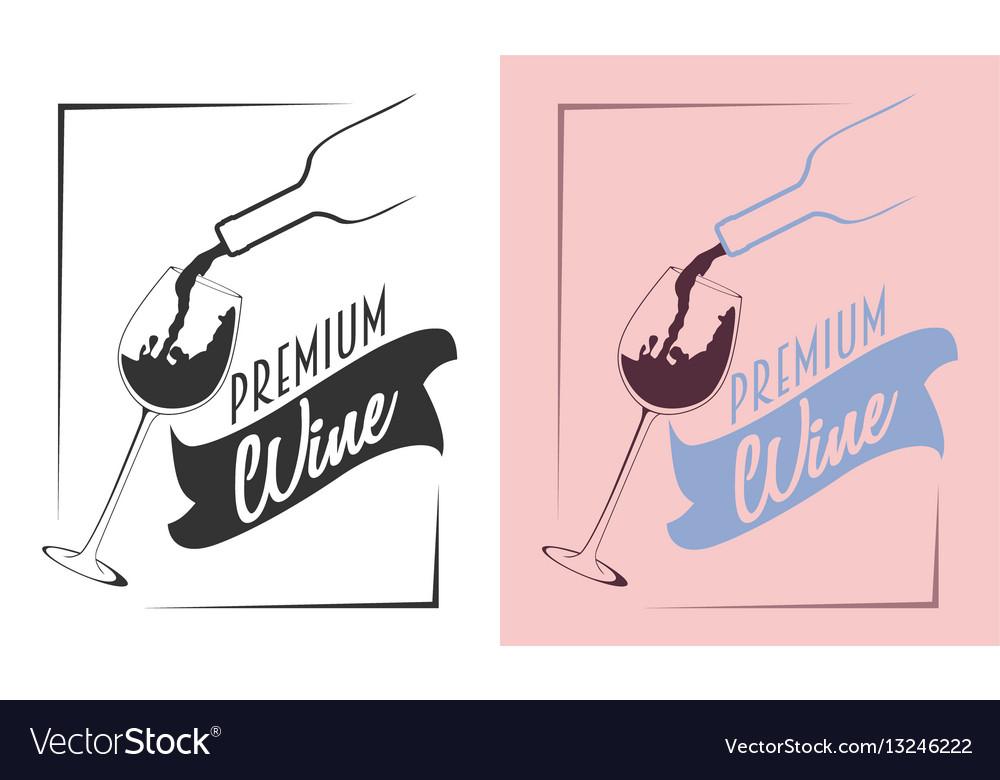 Wine logo or badge concept