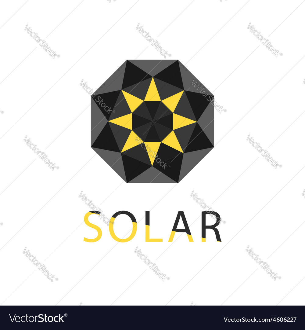 Abstract symbol of sun solar technology logo