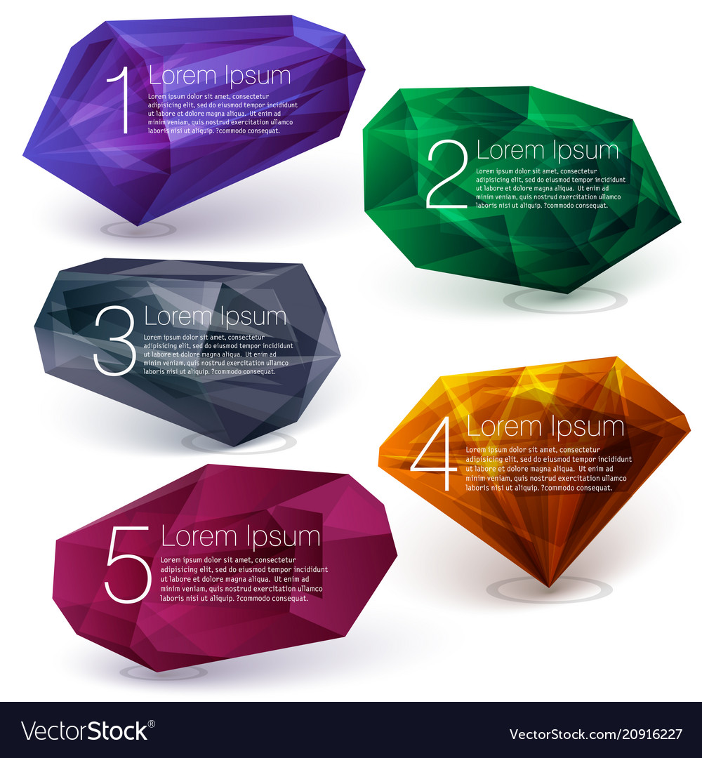 Crystal ifographics template