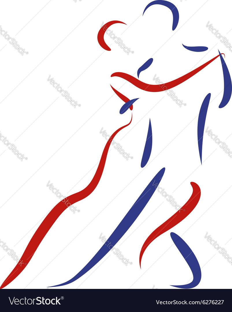 Dancing couple logo