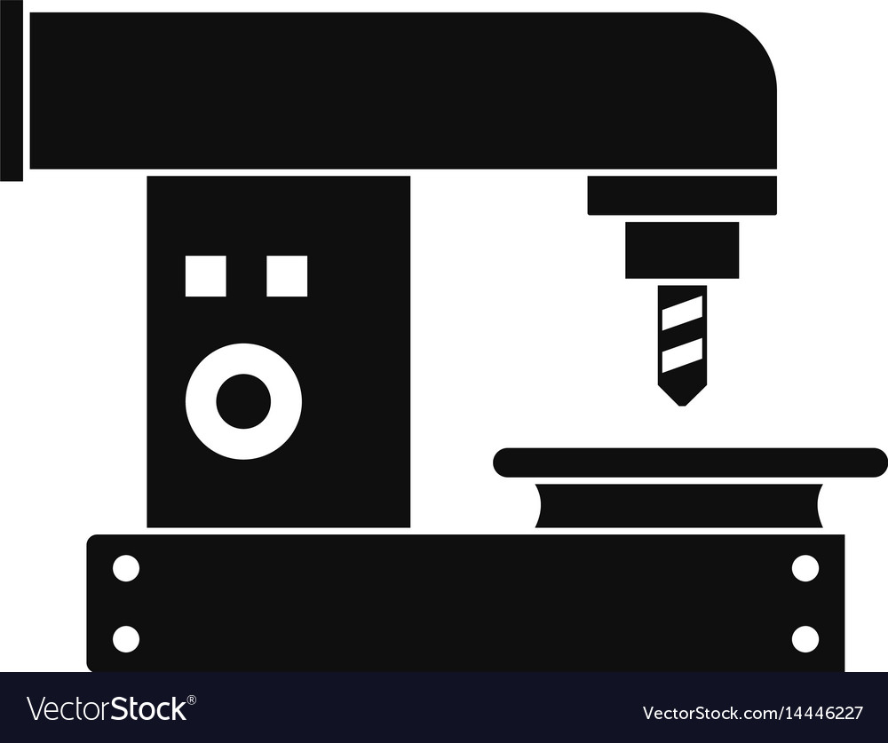 Drilling machine icon simple style