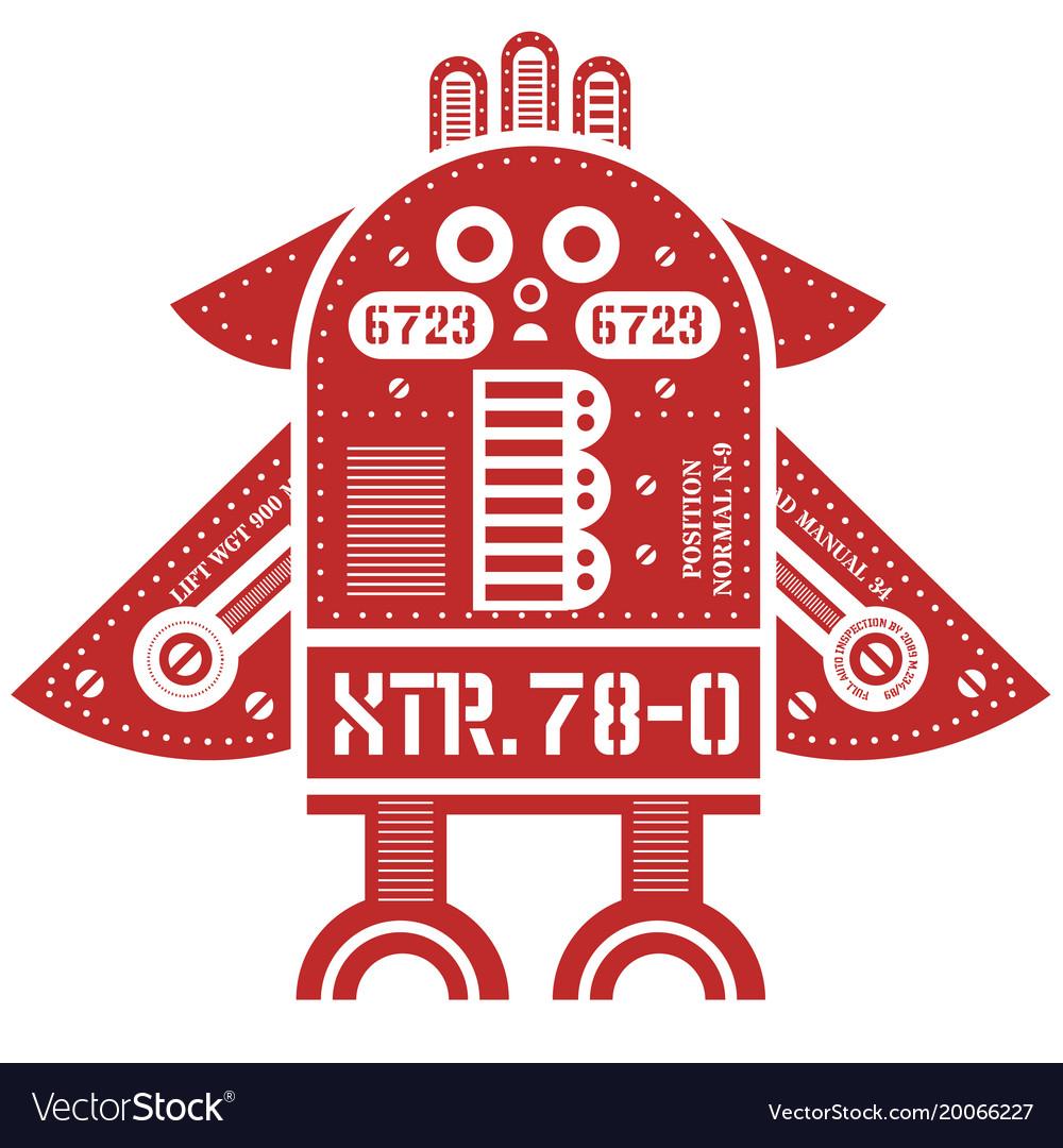 Flying robot vector image