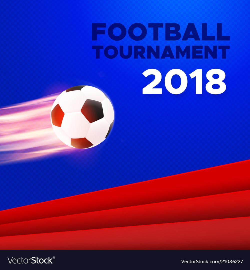 Football 2018 poster design russian colors
