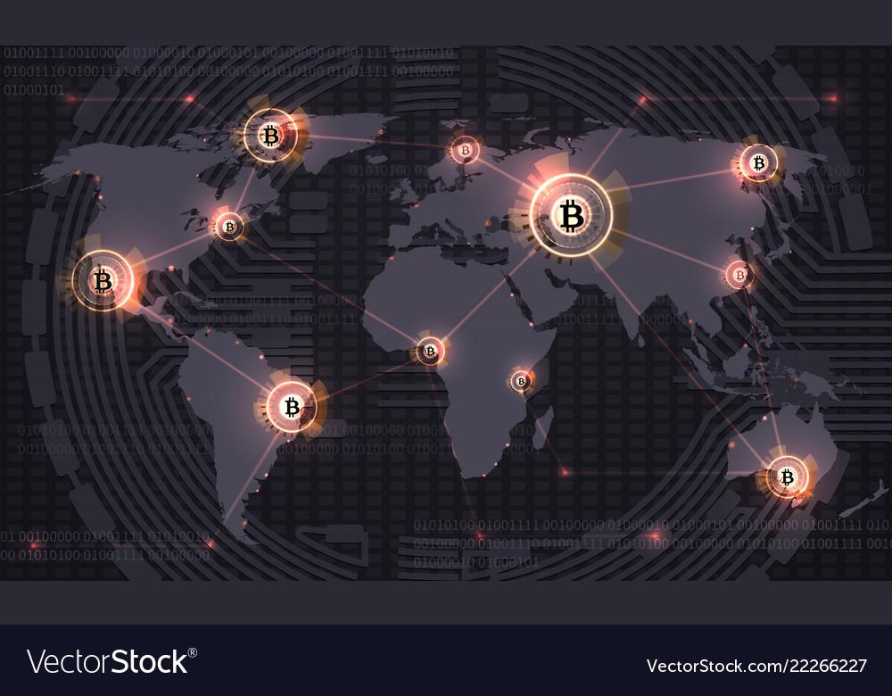 Global bitcoin crypto currency blockchain