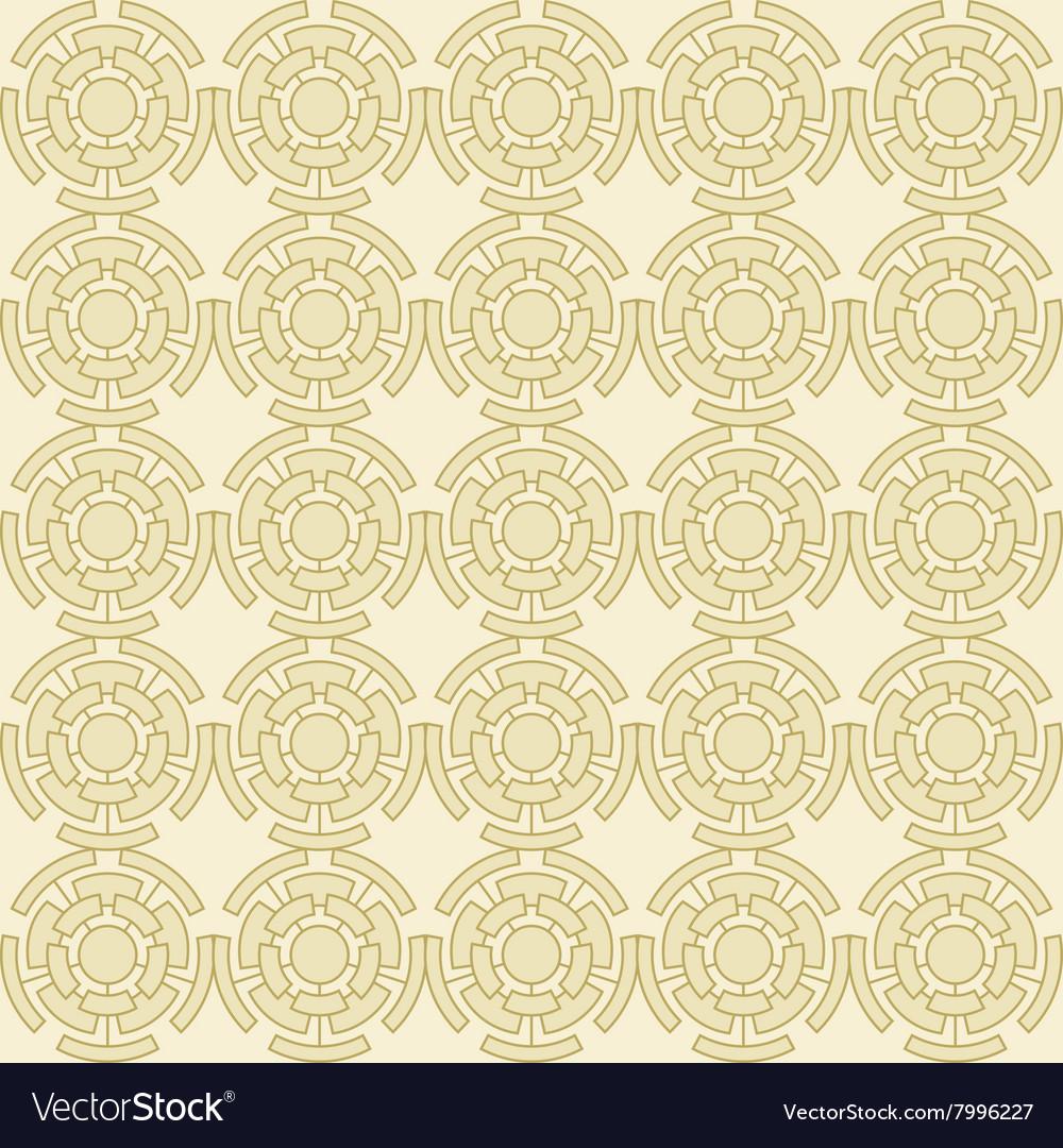 Golden geometric seamless ornament