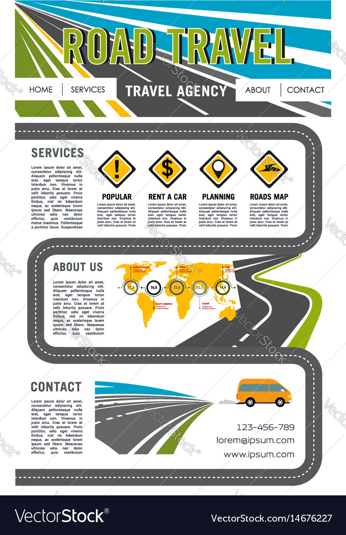 Landing page site for road travel company