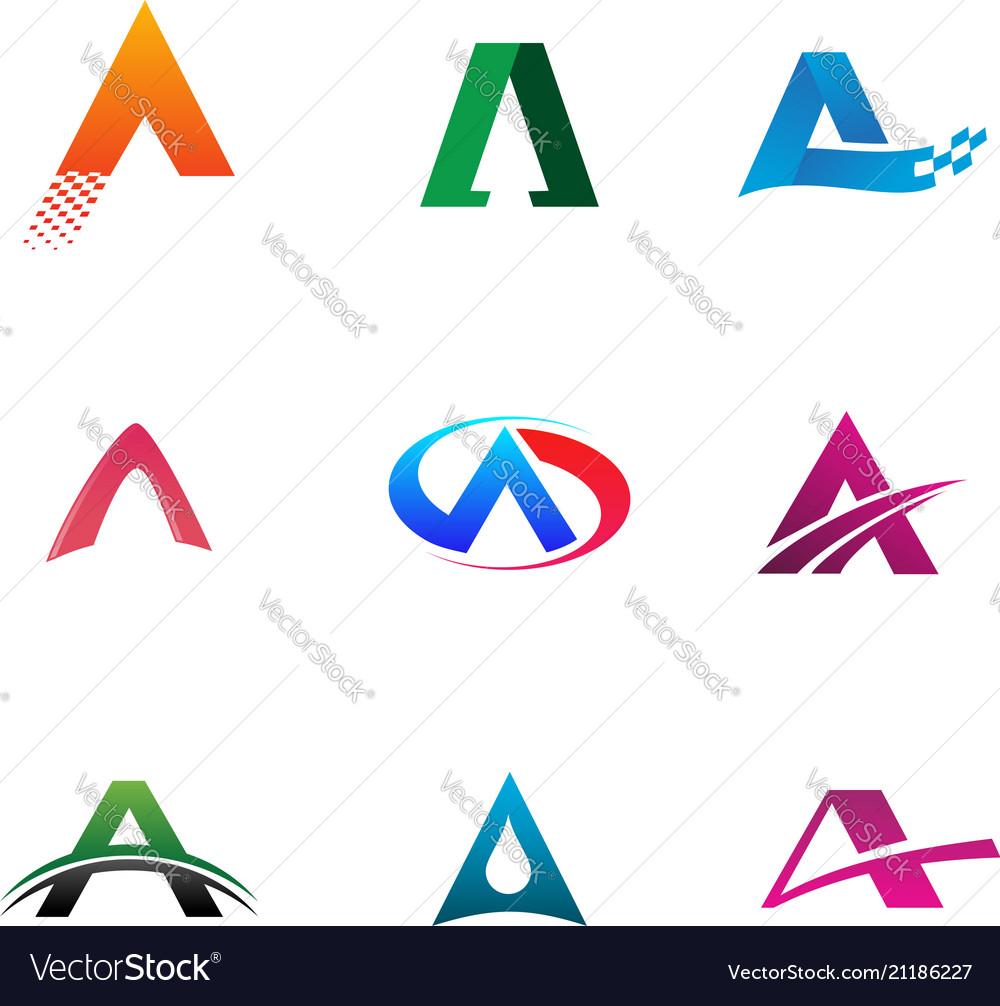 Letter a logo collection set logo design concept
