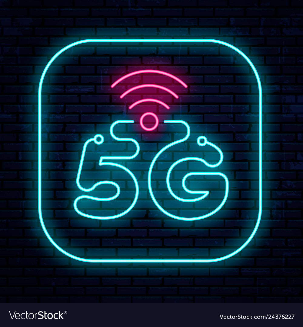 Neon sign 5g network