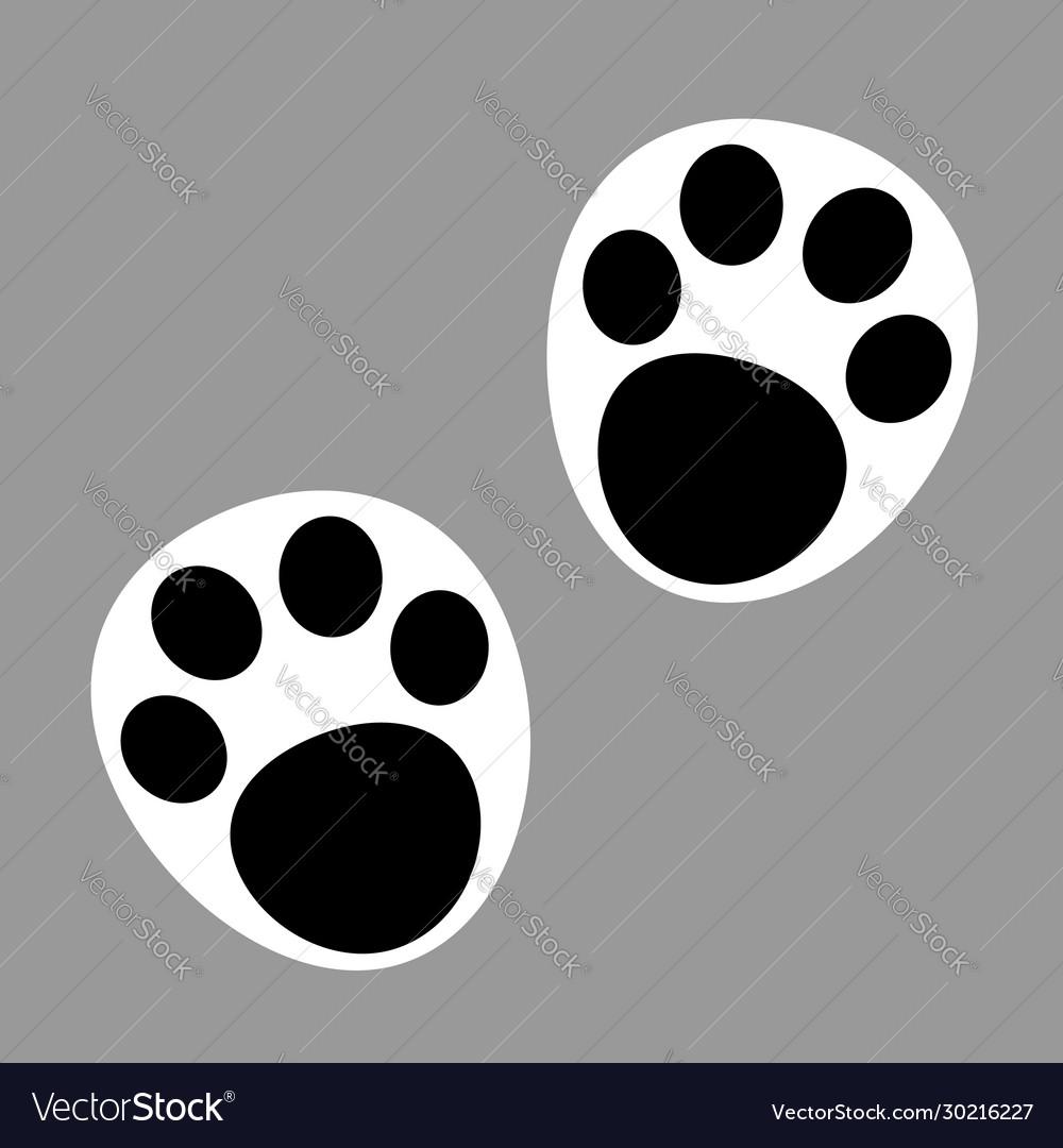 Panda paw prints icon