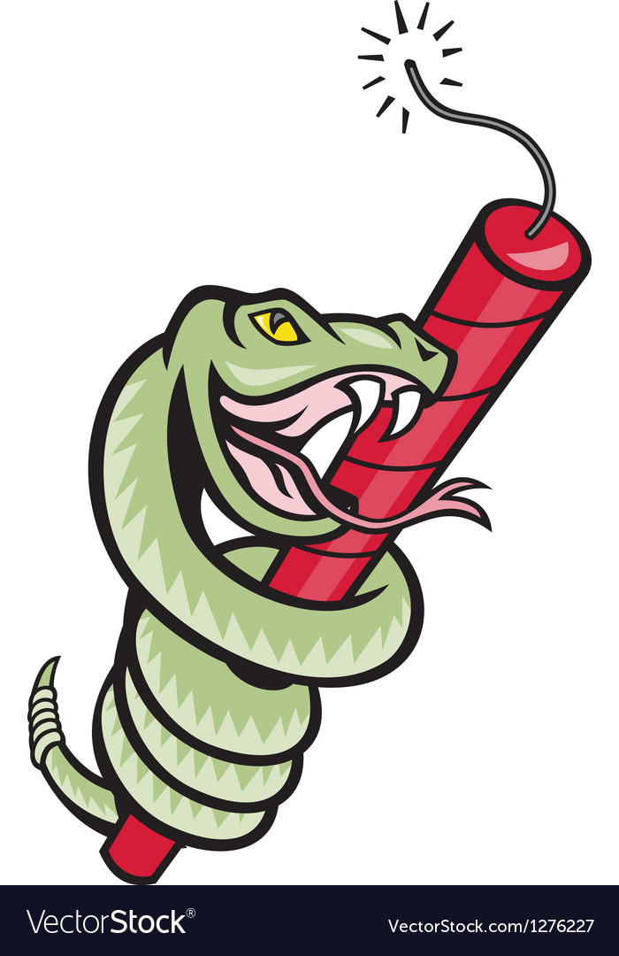 Snake rattle dynamite EPS10