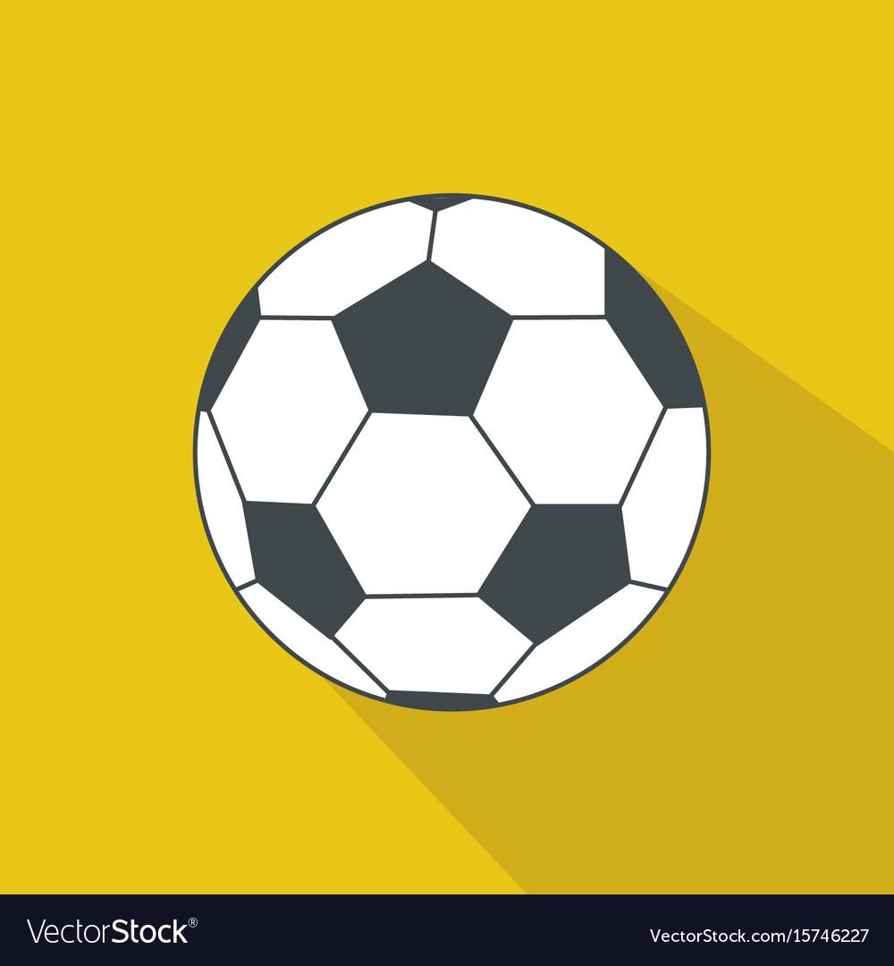 b0a591200 Soccer ball cartoon flat icon brazil Royalty Free Vector