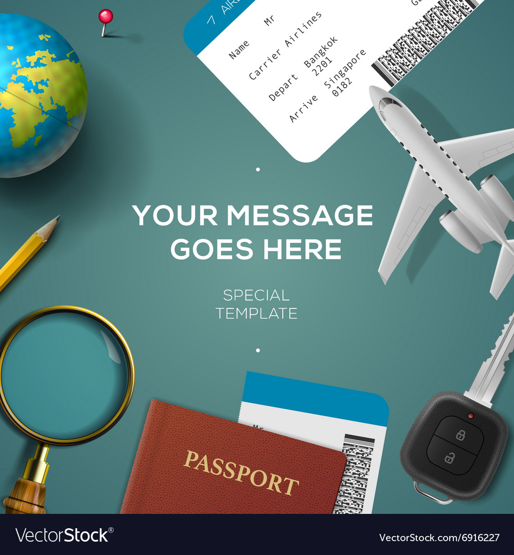 Travelling template travel and vacation concept
