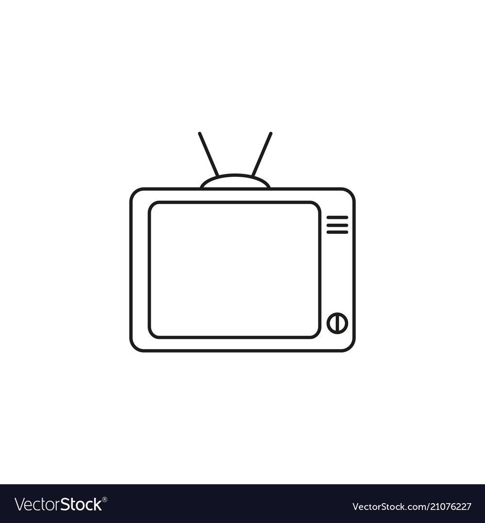 Tv watch icon vector image