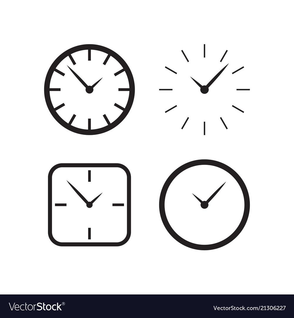Wall Clock Design Vector