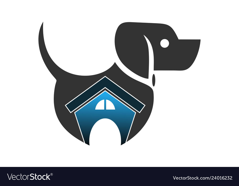 Abstract dog house logo