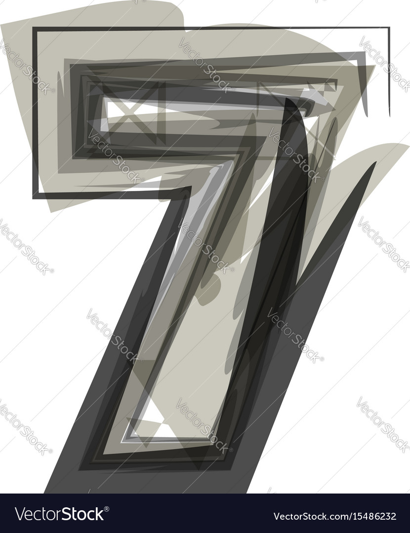 Abstract number 7 vector image