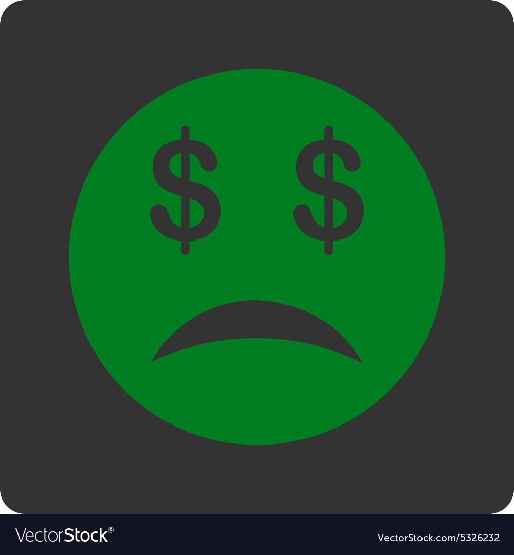 Bankrupt Smiley Icon from Commerce Buttons