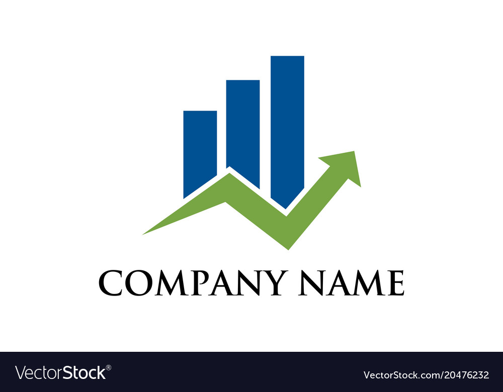 Business graphic financial logo Royalty Free Vector Image