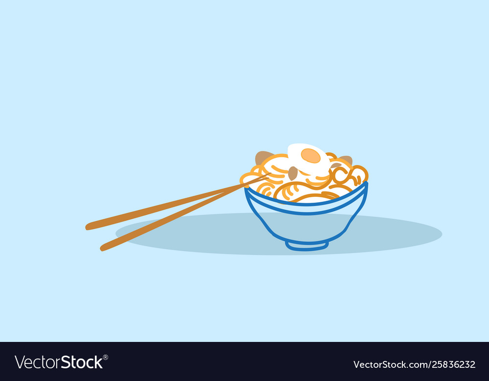 Delicious noodles ramen with boiled egg