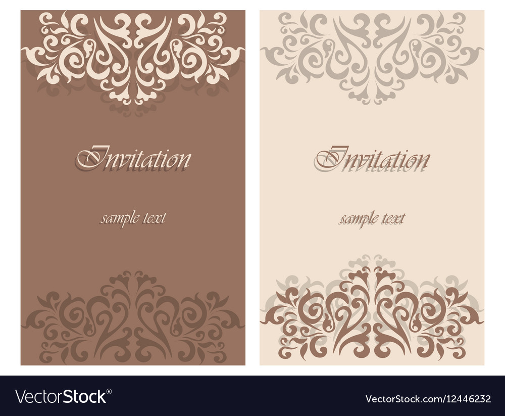 lace ornament invitation card royalty free vector image