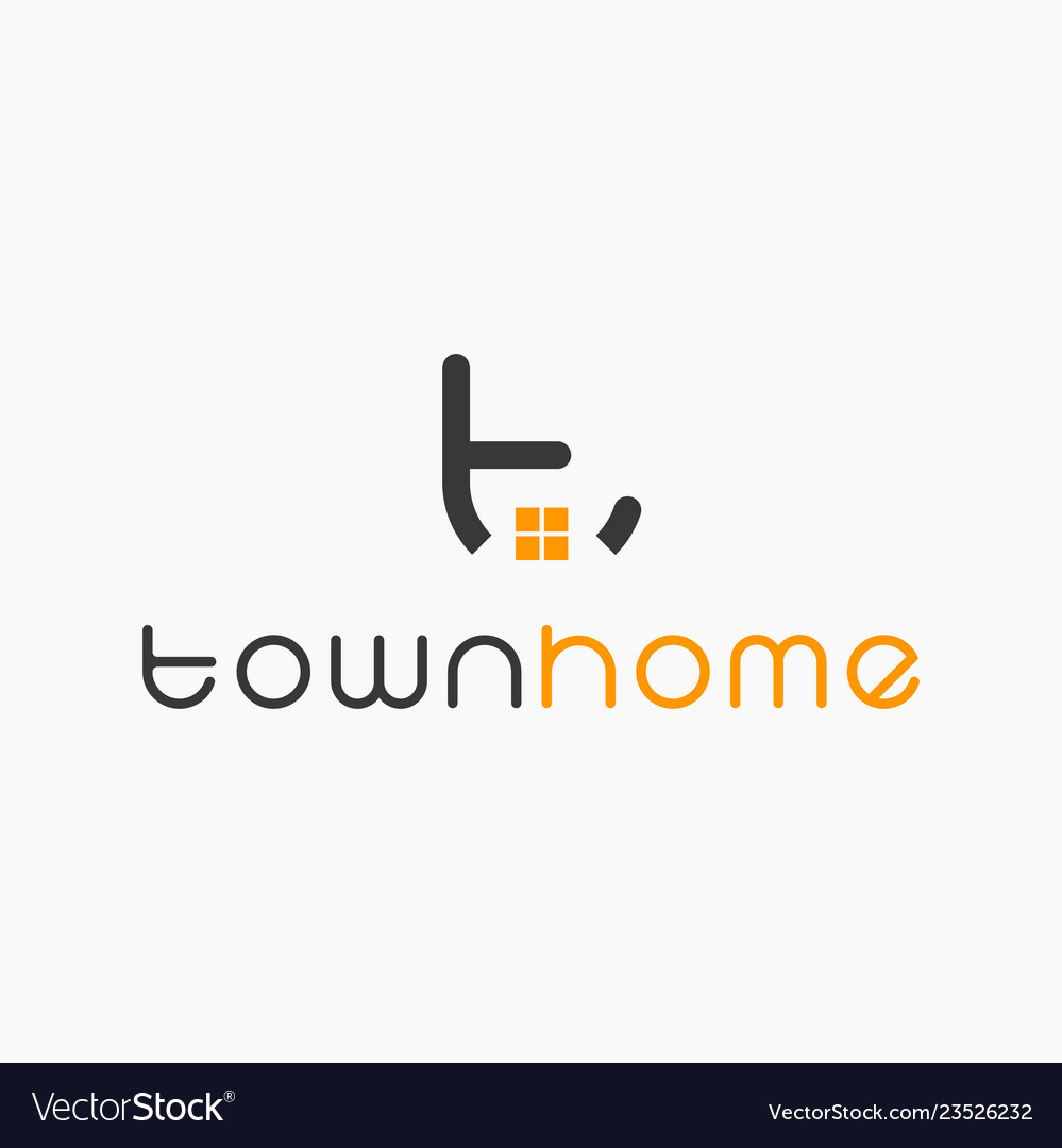 Real estate initial letter t logo design template