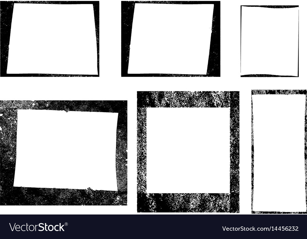 Set of frames textures lines and brushes vector image