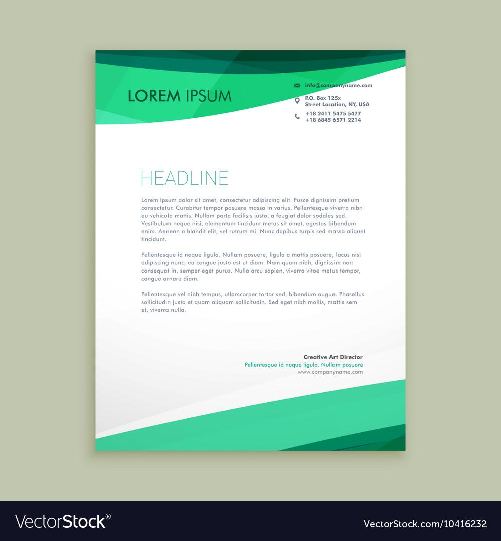 Stylish wave letterhead design vector image