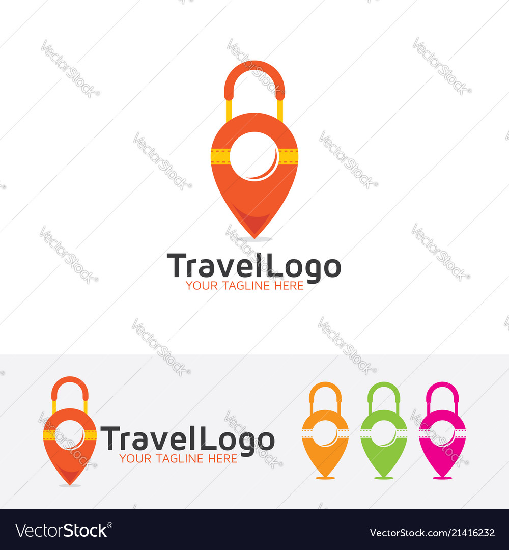 Travel map logo