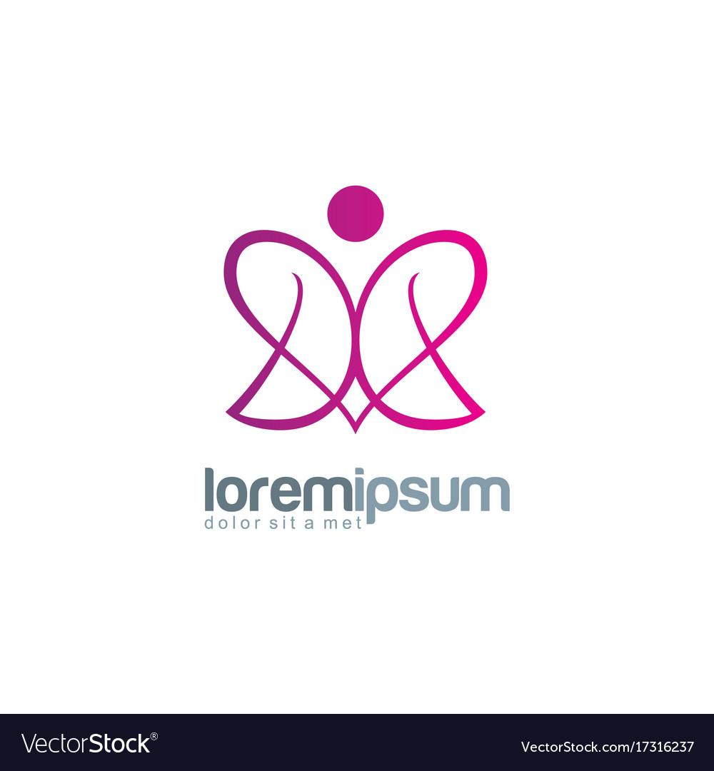 Beauty abstract love logo