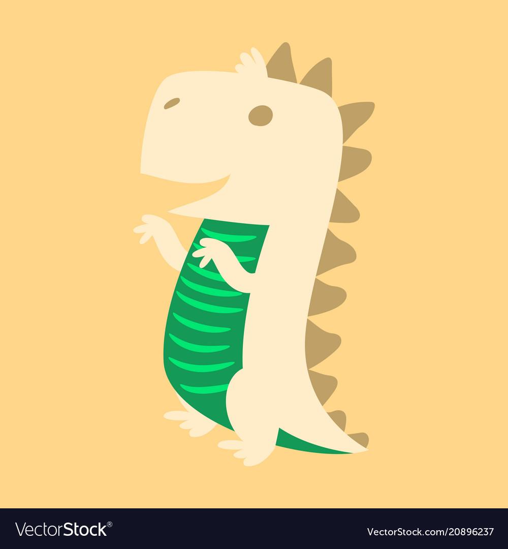 Godzilla scary toothy monster aggressive dinosaur vector image