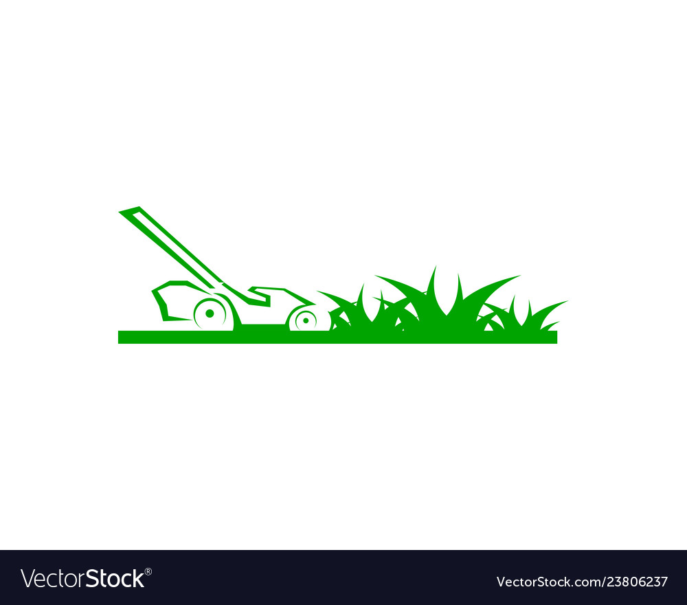 lawn care logo design template royalty free vector image