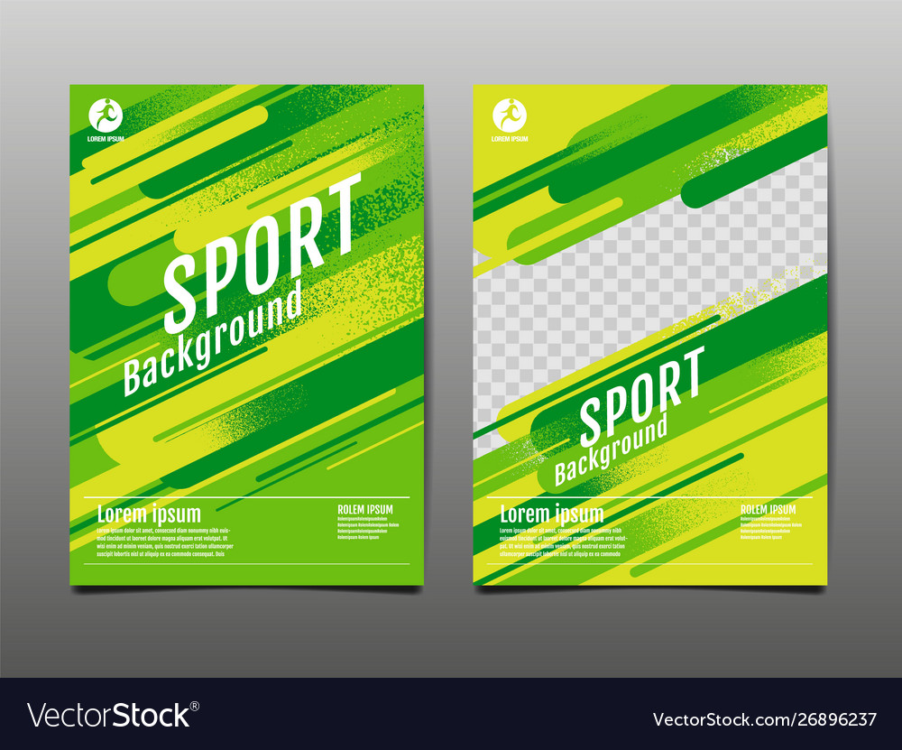 Layout template design sport background dynamic