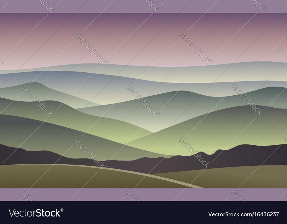 Sunrise blurred mountain background