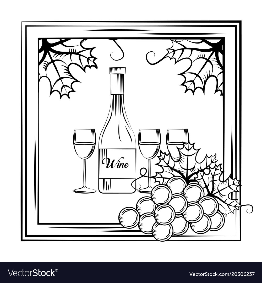 Wine drink alcohol card