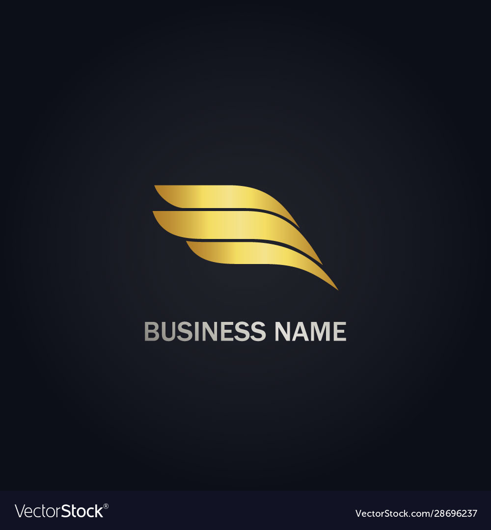 Wing abstract gold logo