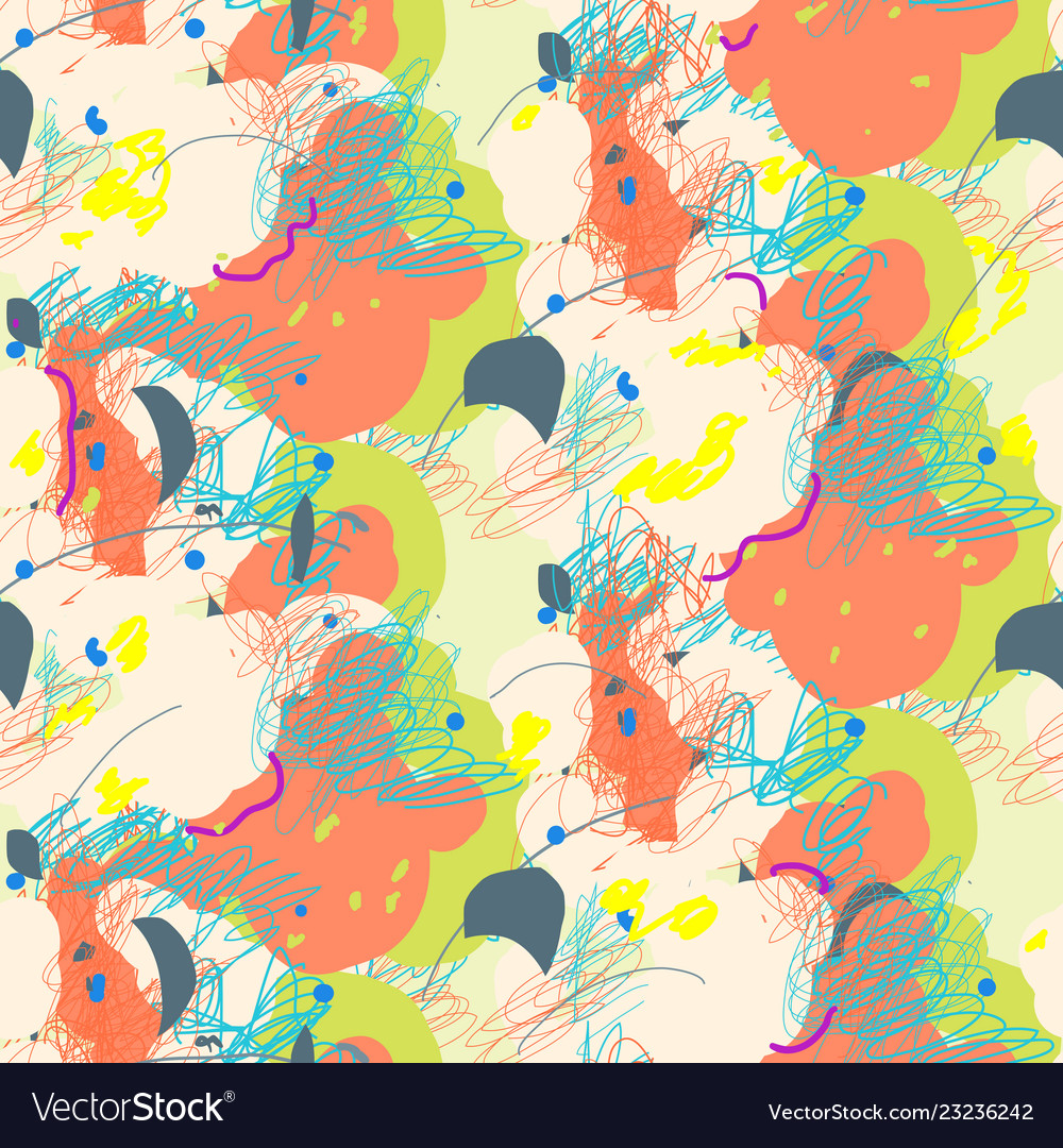 Abstract seamless pattern in artistic style