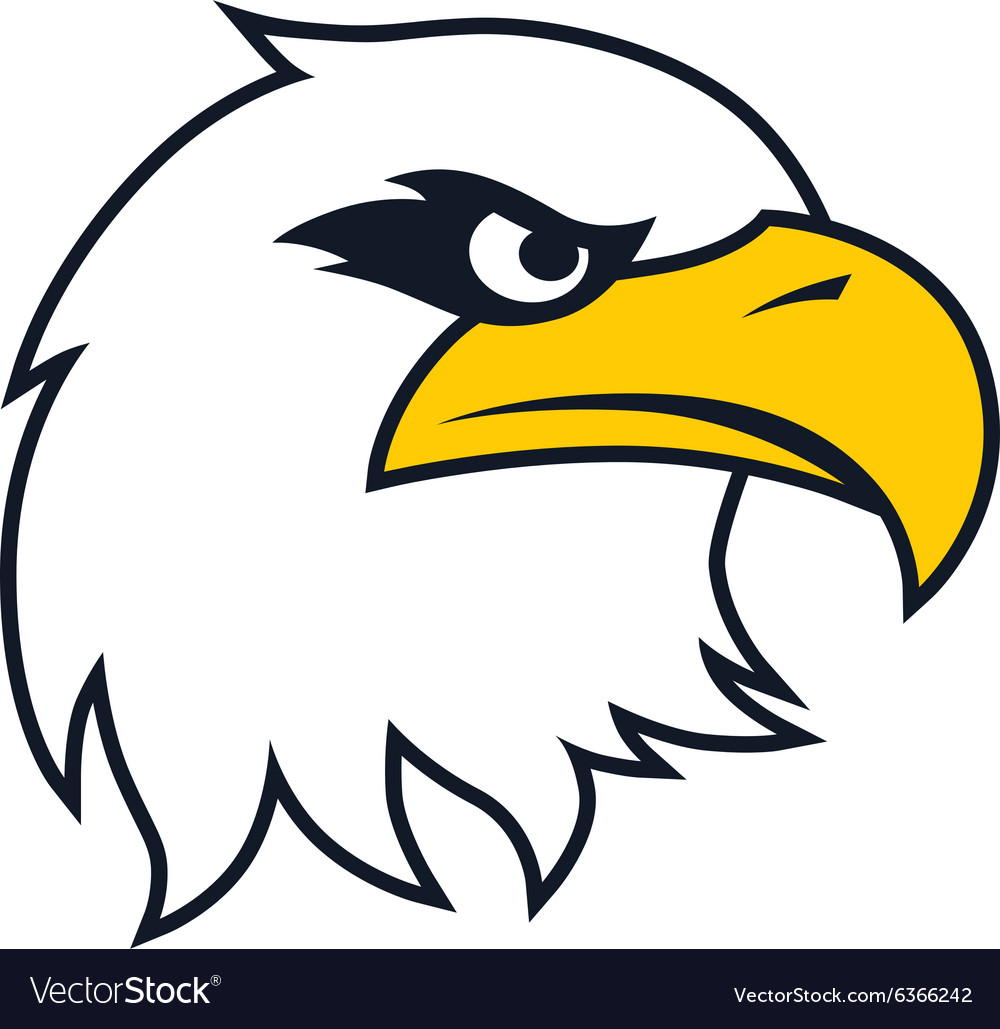 bold eagle template royalty free vector image vectorstock