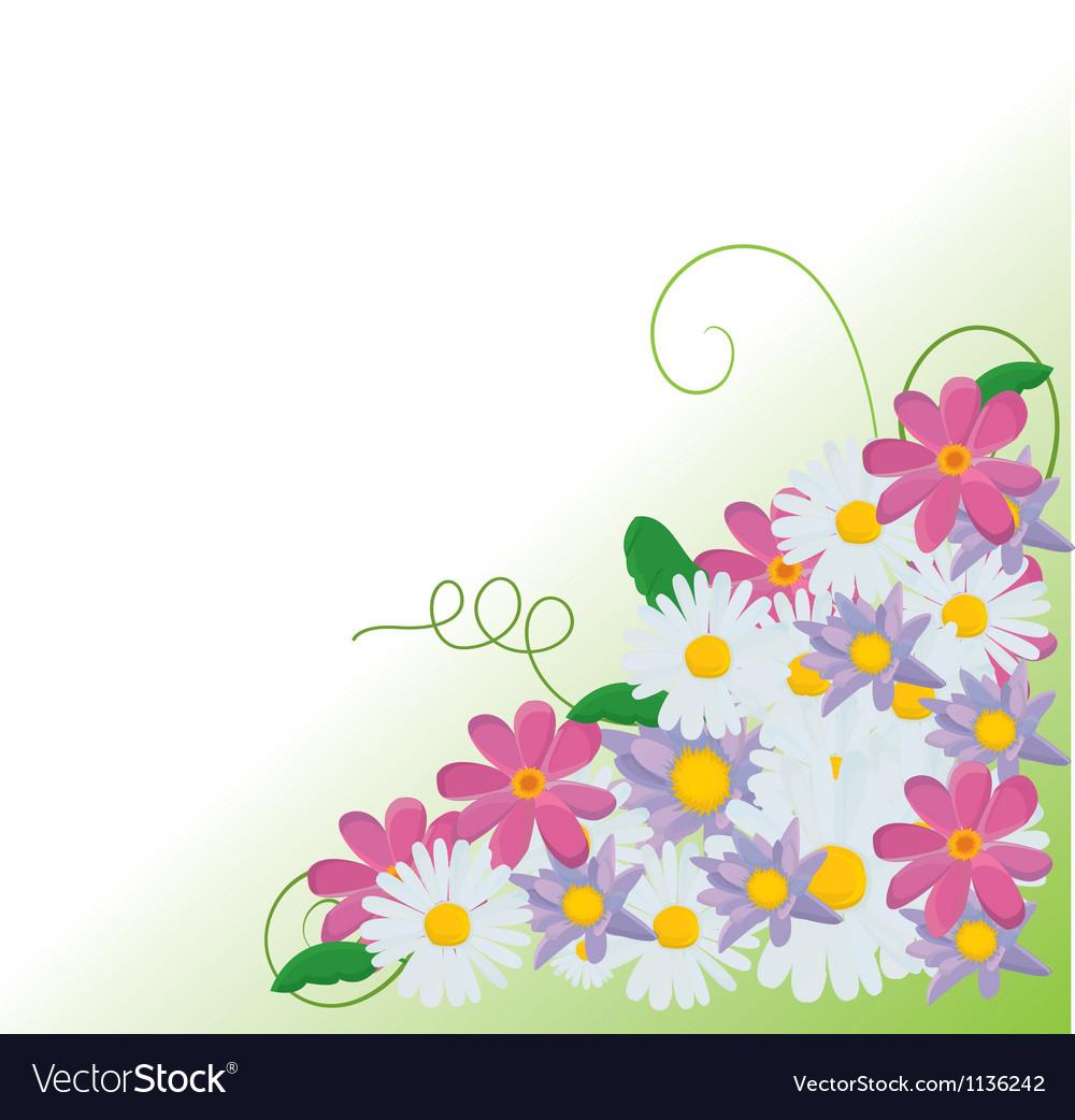 Floral corner background