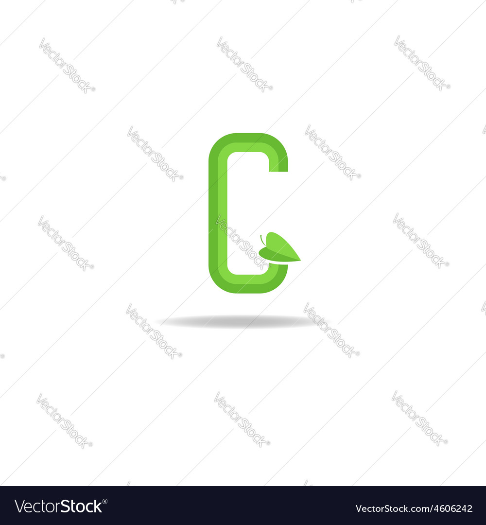 Green letter G logo eco concept icon ecology
