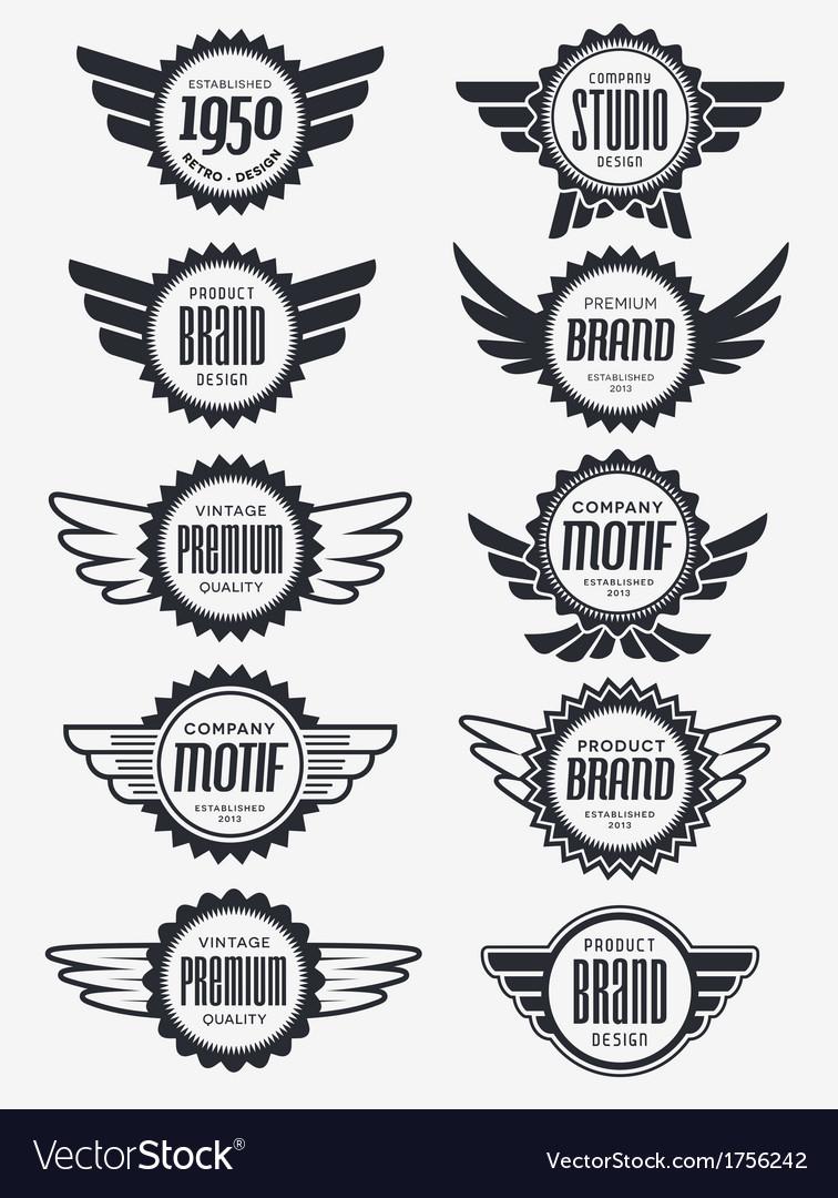 Retro logo badge collection