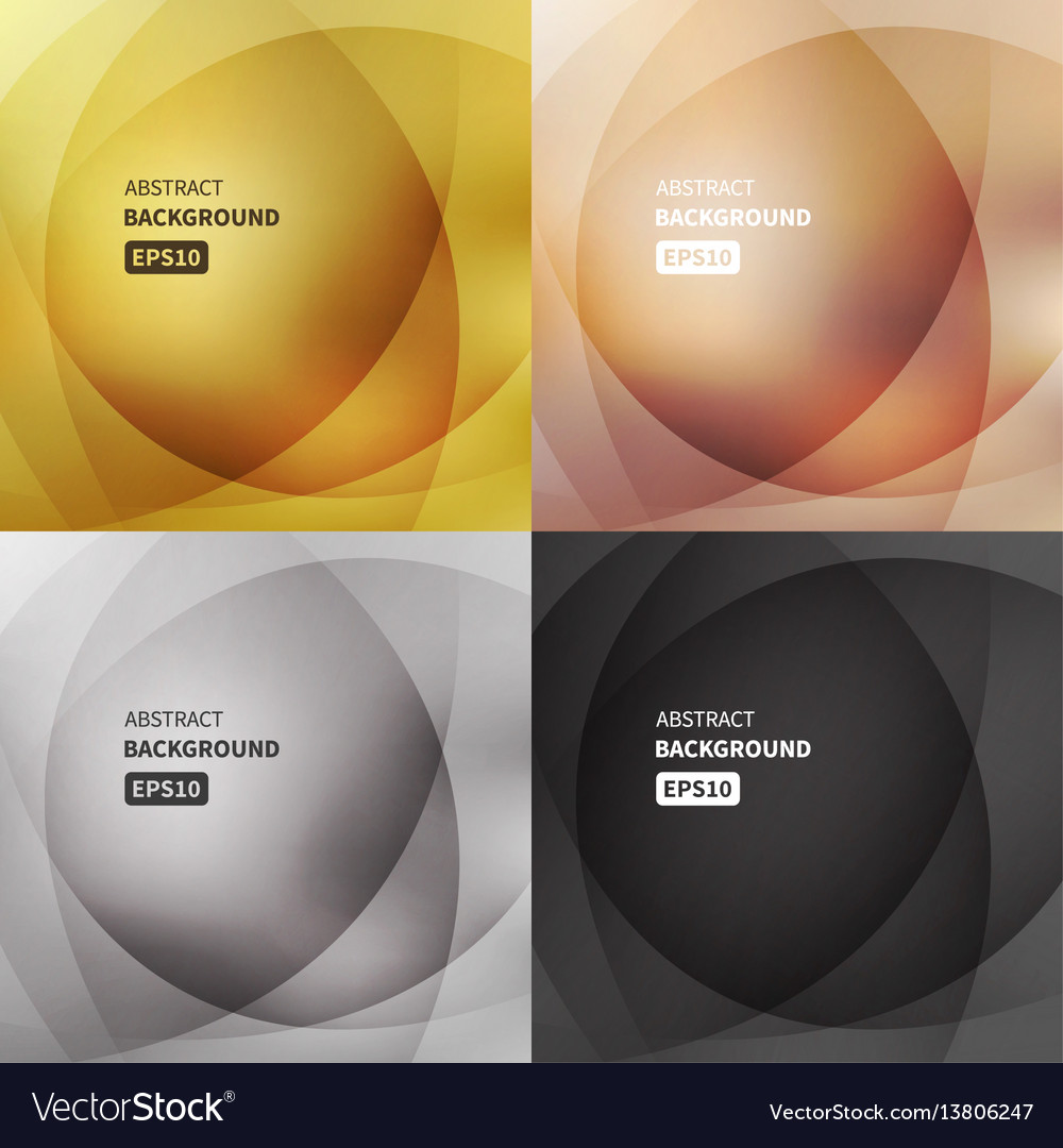 Abstract light backgrounds set