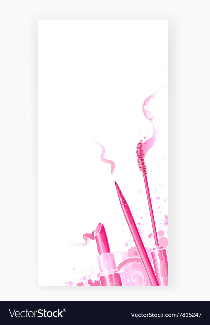 Beauty background with cosmetics design card