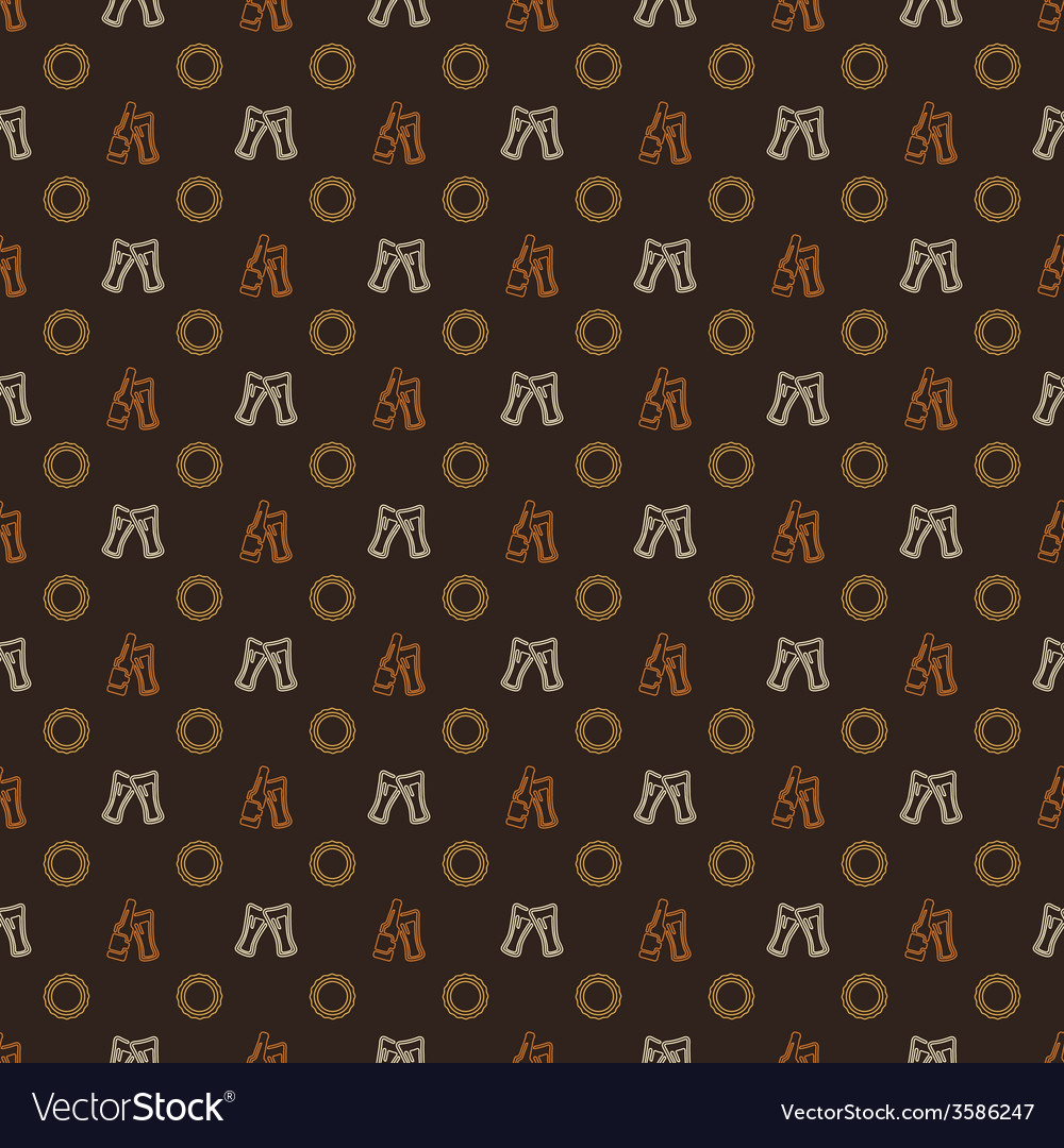 Beer pattern - alcohol seamless texture
