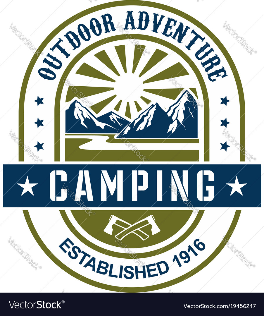 Icon for camping outdoor adventure
